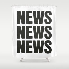 News News News Shower Curtain