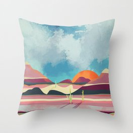Pink Desert Glow Throw Pillow