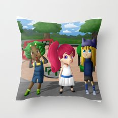 At the Playground Throw Pillow