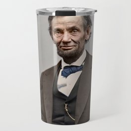 Abraham Lincoln Painting Travel Mug