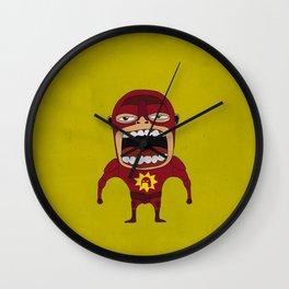 Screaming Crimson Bolt Wall Clock