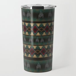 southwest stripe with horses Travel Mug