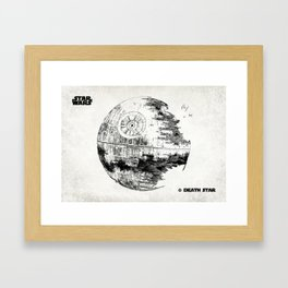 Death Star Old Canvs Framed Art Print