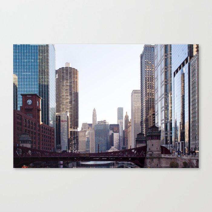 Chicago River Skyline Canvas Print