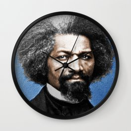 Frederick Douglass Painting In Color Wall Clock