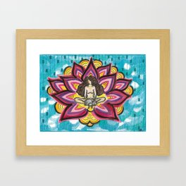 """I am a Blooming Lotus"" Lady Framed Art Print"