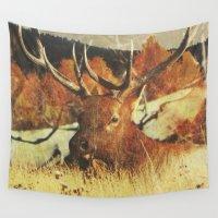 elk Wall Tapestries featuring Autumn Elk by Kenna Allison