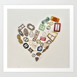 Vintage with a Smile - English Vintage Buckles 1900's Art Print
