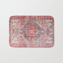 Vintage Anthropologie Farmhouse Traditional Boho Moroccan Style Texture Bath Mat