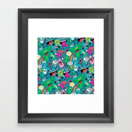 Monster Party Framed Art Print
