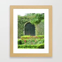 The Door in the Hedge Framed Art Print