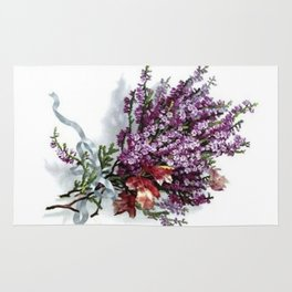 Vintage Lavender Bouquet Rug