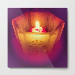 Candle Aglow Metal Print