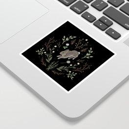 Hoppy Botanical Bunny Sticker