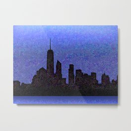 New York City downtown skyline Metal Print