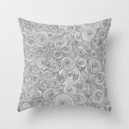 Concentric Circle Doodles Throw Pillow