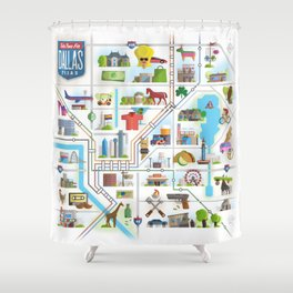 Take Time For Dallas Shower Curtain