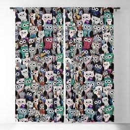 Gemstone Owls Blackout Curtain