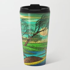 Seba Ohta River Japan Ukiyo e Art Metal Travel Mug