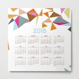 2018 Calendar  #society6 #decor Metal Print