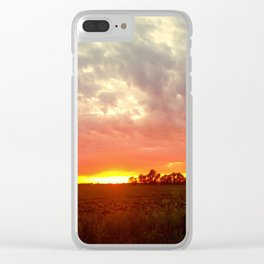 Chasing fire      (Curtain panel #1) Clear iPhone Case
