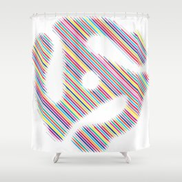 45 Record Insert Icon Shower Curtain