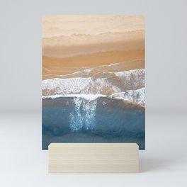 Ocean Waves | Aerial Beach Photography  Mini Art Print