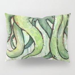 Cthulhu Green Tentacles Pillow Sham