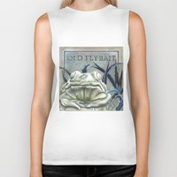 """haunted mansion Biker Tanks featuring Disneyland Haunted Mansion inspired """"Old FlyBait""""  by ArtisticAtrocities"""