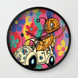 that '70s bug...a bug in a bug Wall Clock