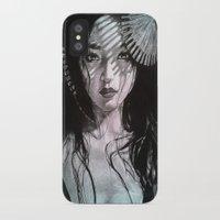 geisha iPhone & iPod Cases featuring Geisha by Mary Alice Art