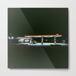 Gas Station, Queens, NY Metal Print