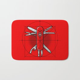 Vitruvian Swiss Knife Bath Mat