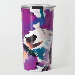 Sara Floral Blue Travel Mug