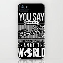 Revolution.  iPhone Case