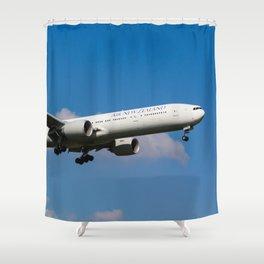 Air New Zealand Boeing 777 Shower Curtain