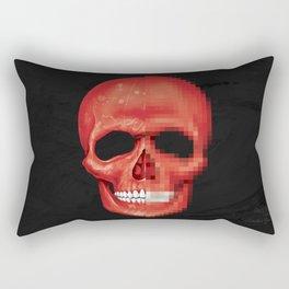 Red Skull Pixelated Rectangular Pillow