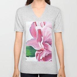 Pink Carnation Painting Unisex V-Neck