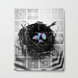 NL 1 Abstract Robin's Eggs Metal Print