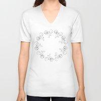 cycling V-neck T-shirts featuring Cycling by Maiko Horita