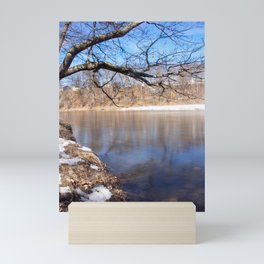 Calm Sandy River Mini Art Print