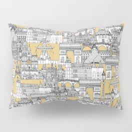 Paris toile gold Pillow Sham