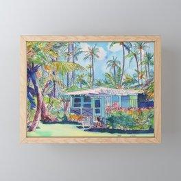 Kauai Blue Cottage 2 Framed Mini Art Print