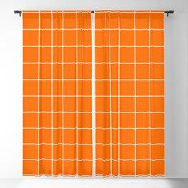 Carrot Grid Blackout Curtain