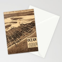 Map Of Ocean City 1903 Stationery Cards