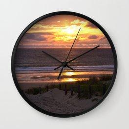 way to the beach Wall Clock