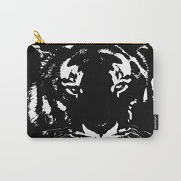 Black n white tiger Carry-All Pouch