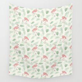 Flamingo Love Tropical Wall Tapestry