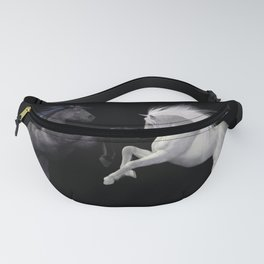 Black White horse Fanny Pack