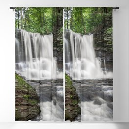Appalachian Waterfall II - Ricketts Glen Adventure Blackout Curtain